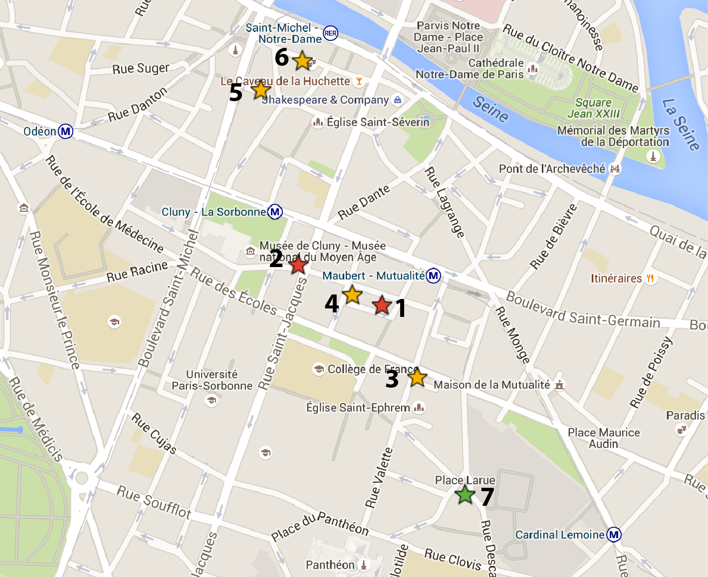 Hotels close to RER station Saint-Michel - Notre-Dame